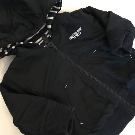 0-3 Month  Navy Reversible Jacket